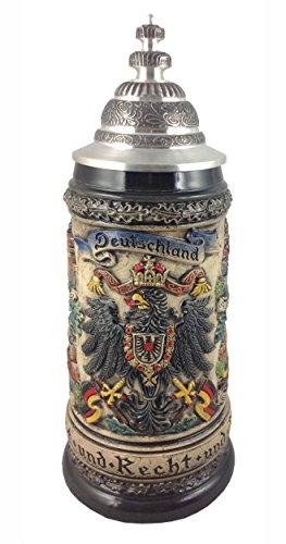 Zöller & Born Jarra de Cerveza Alemana Alemana con águila de estaño,...