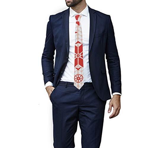 Kerstmis Maan Winter Breien Patroon Ties voor Mannen Necktie Geruit Patroon Charmante Tie