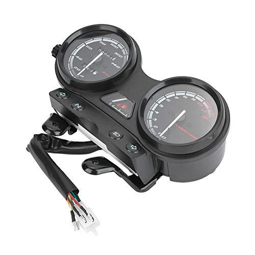 Velocímetro de Motocicleta, Instrumento Pantalla Digital Velocímetro Tacómetro Odómetro Apto para YBR 125