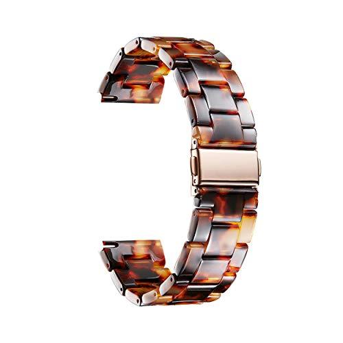 BINLUN Correas Reloj de Resina para Mujer 18mm 20mm 22mm Correa de Reloj Resina para Hombre Correas para Relojes de 14 Colores Correas Reloj Pulseras de Repuesto de Moda