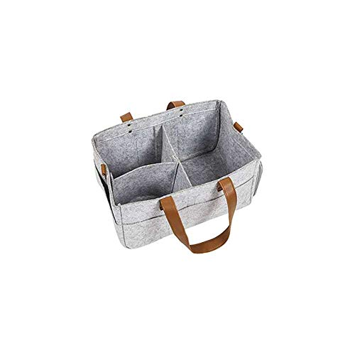 Yuyanshop Bolsa de almacenamiento de fieltro plegable de fieltro bolsa de almacenamiento de fieltro bolsa de pañales bolsa de asas