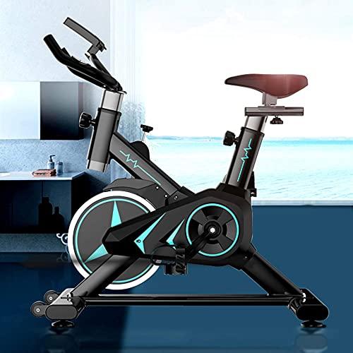 Bicicleta de spinning para el hogar, bicicletas de ejercicio, bicicleta de ciclismo para interiores con sillín de absorción de impactos, diseño silencioso, bicicleta estacionaria para entrenamiento ca