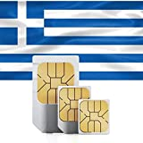 Prepaid (UK Three) Greece SIM Card – 5GB of Mobile Data Valid for 30 Days to use in Denmark, France, Germany, Italy, Lithuania (Includes Unlimited Talk & Text)
