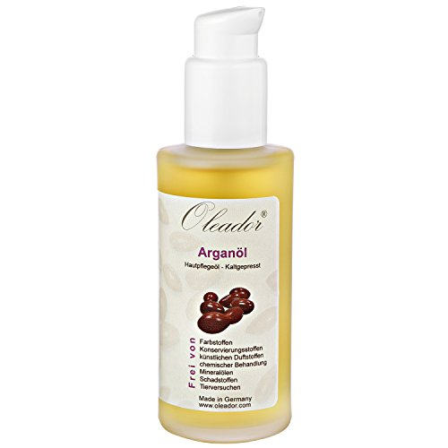 Oleador Arganöl 100 ml zur Pflege von Haut und Haare | naturbelassen, ungeröstet & kaltgepresst | tierversuchsfrei & vegan | Made in Germany
