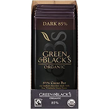 Green & Black s Organic Dark Chocolate 85% Cacao 3.5 Ounce  Pack of 10
