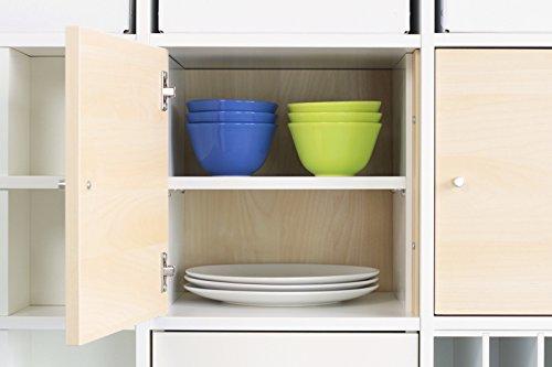 New Swedish Design Extrafach für Kallax Tür Einsatz/Regaleinsatz mit 1 Fachboden/Extra Ablagefach/Stabile Regalböden sind verstellbar / 100{6d9cf476d5a670258e862a0ab94d83ea6182285f103577aa33424e3ba734ac72} IKEA-Möbel kompatibel/Mehr Ablagefläche im Kallax Regal