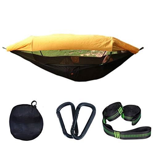 Swing de Hamaca de Doble al Aire Libre con Cubierta Neta Camping portátil Camping Hammock Interior y al Aire Libre sillín de Swing Showing (Color : A)