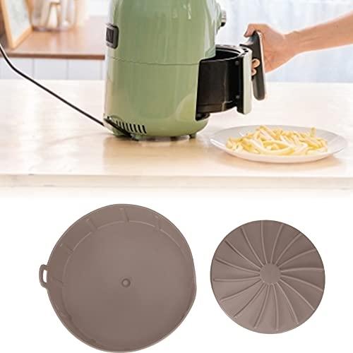 Sartén antiadherente de silicona con revestimiento de olla de aire para panadería para hornear(Brown)