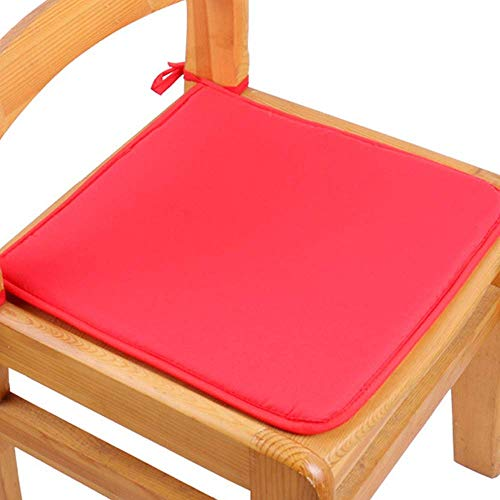 ZHANGYY Set of 2 Premium Cushion Chair Seat Pads With Ties,Bar/Garden/Kitchen Patio Cushions,Many Colors (A-Purple)