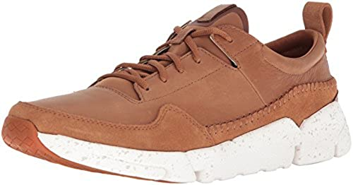 CLARKS Men& 039;s Triactive Run Turnschuhe, Tan Nubuck, 10 Medium US
