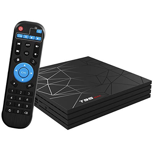 Android 9.0 TV BOX, T95 MAX Smart BOX 2GB RAM 16GB ROM Allwinner H6 Quad-Core Cortex-A53 CPU Mali-T720MP2 GPU 6K 4K H.265 Risoluzione 100M LAN Enternet 2.4 GHz WiFi USB 3.0 Video Player