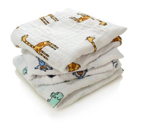 aden + anais musy squares 100% cotton muslin jungle jam 3-pack