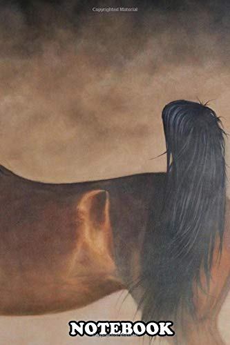 Notebook: This Painting Of An Arabian Horse Is Created In Oil On , Journal for Writing, College Ruled Size 6