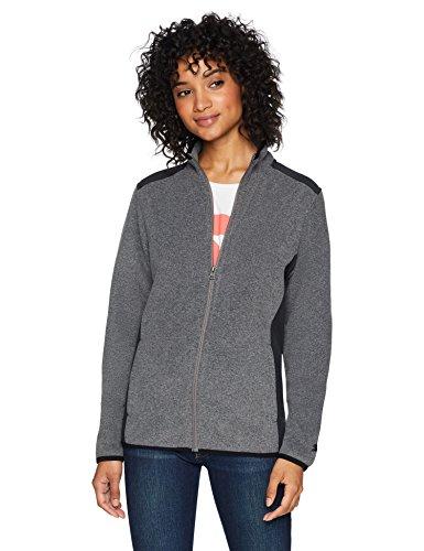 Starter Women's Polar Fleece Jacket, Amazon Exclusive, Vapor Grey Heather, Large
