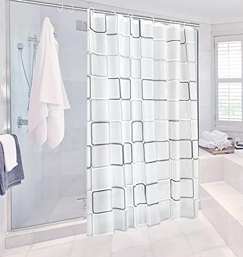 Miystn Tenda Doccia Antimuffa, Shower Curtain, Tenda Doccia 180x200, Antimuffa,Senza BPA, Impermeabile,Ecologico (1 Pezzo, 180 x 200 cm)