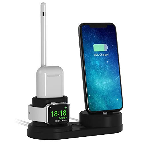 iitrust Supporto Apple Watch 4 in1 per Airpods (iPhone/iWatch / airpods/Apple Pencil),Compatibile con Airpods,iPhone 8 / 8Plus, iPhone 7 / 7Plus,iPhone 6 / 6sPlus