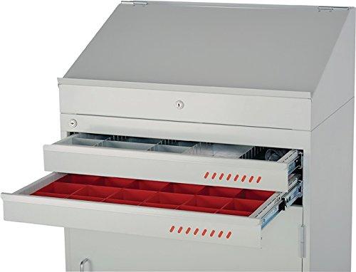 NORDWEST Handel AG Pultaufsatz H265xB710xT500mm lichtgrau/lichtgrau f. Mehrzweckschrank PROMAT