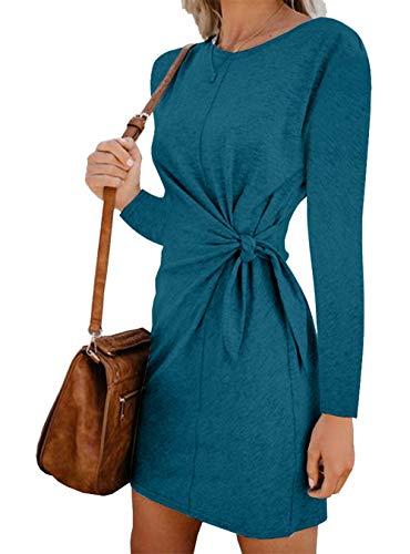 Dawwoti Camisa de Manga Larga de Las Mujeres Soft Top para Lady Winter Dress Tops