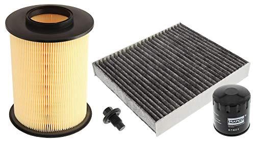 Mapco 68843 Inspektionspaket Ölfilter Luftfilter Innenraumfilter Ölablaßschraube