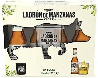 Ladrón de Manzanas Cider con Vaso - Pack de 6 Botellas x 250 ml