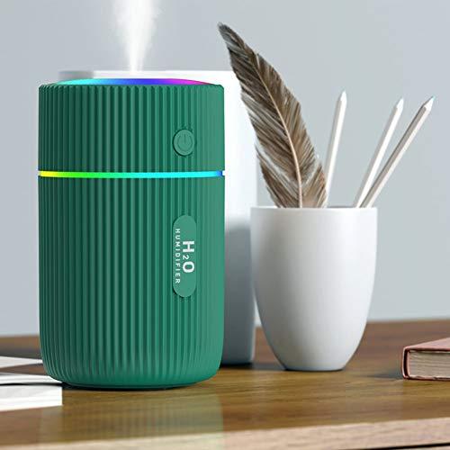 Luftbefeuchter,Air Diffuser,Aromazerstäuber,Mini Luftbefeuchter mit zwei Sprühmodi,Luftbefeuchter mit 220 ml Wasser,USB-Verbindung,2 Nebelmodi,Super Quiet,automatische Abschaltung.(Green)