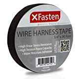 XFasten Wire Harness Tape - 3/4' x 90 Foot (Single Roll), High Temp Wiring Loom Harness Self-Adhesive Felt Cloth Electrical Tape for Automotive Engine and Electrical Wiring