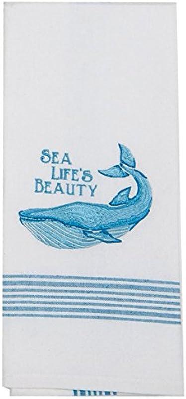 Kay Dee Designs Sea Life S Beauty Whale Embroidered Tea Towel