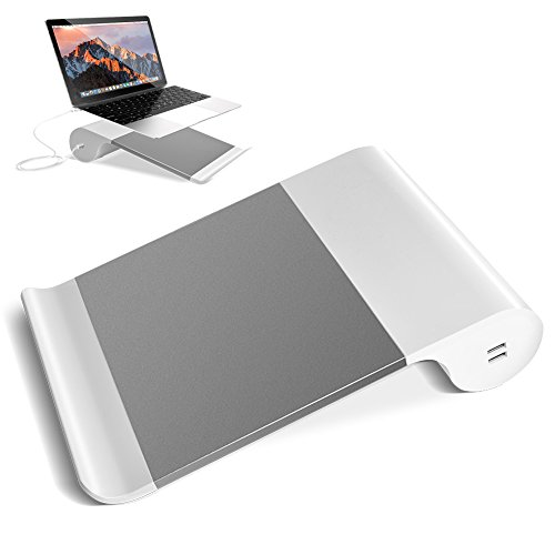 VAlinks Laptop Stand,2 in 1 Multi-Use MacBook Stand Notebook Holder Universal Laptop Charging Stand with Non-Slip Pads Compatible for MacBook Pro,All Notebook 15""