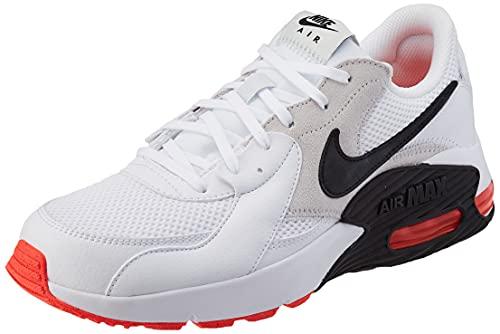 Nike Herren AIR MAX EXCEE Laufschuh, White Black Photon Dust BRT Crimson, 44 EU