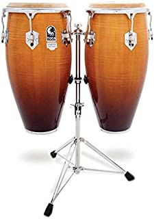 Toca Pro Elite Conga Drum Set w/ Stand - Natural Fade