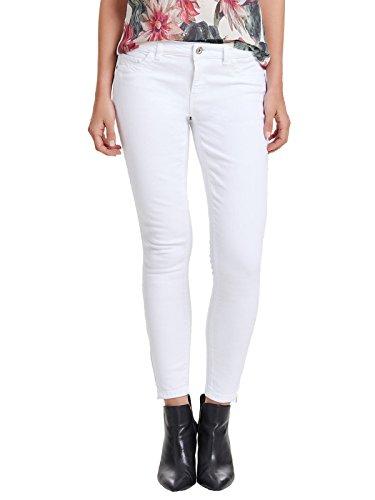 ONLY Damen Jeans-Hose Regular Ankle Skinny-Jeans weiß Röhre, Farbe:Weiß, Weite/Länge:27/32