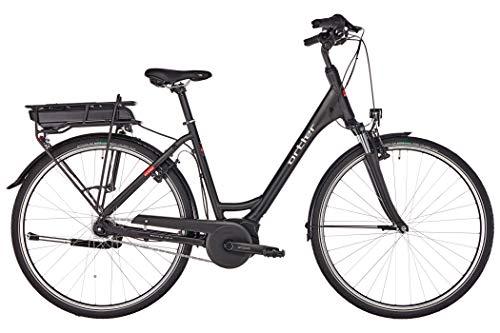 ORTLER Wien Wave 2019 - Bicicleta de Trekking eléctrica para Mujer, Color Negro Mate