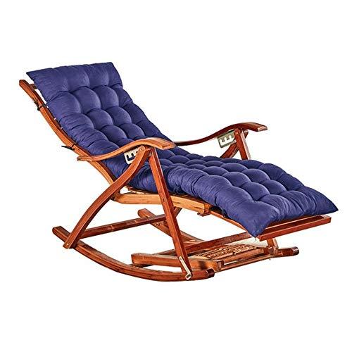 YLCJ Bamboe schommelstoel Patio Tuinstoel voor vrije tijd Opvouwbare kinderbedje Opvouwbare strandstoel Ligstoel (kleur: 03) 7