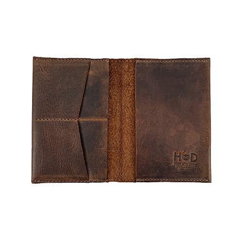 Hide & Drink, Reisepasshülle und Kartenorganizer, für bis zu 6 Karten, inkl. Faltscheine/Reiseutensilien, Handarbeit, inklusive 101 Jahre Garantie, Bourbon Brown