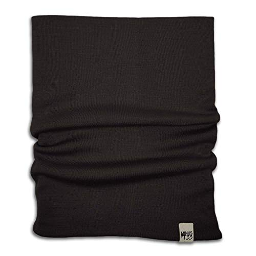 Minus33 Merino Wool 730 Midweight Neck Gaiter Black One Size