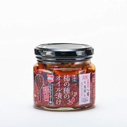 阿部幸製菓 新潟 柿の種のオイル漬け 「激辛」にんにくラー油 160g