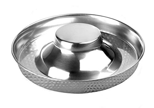 King International Stainless Steel Dog Bowl 1 Hammered Puppy Litter Food Feeding Weaning for Puppy Food| Puppy Supplies| Stainless Dog Food Bowls| for Large Dogs, Pets Feeder Bowl and Water Bowl|