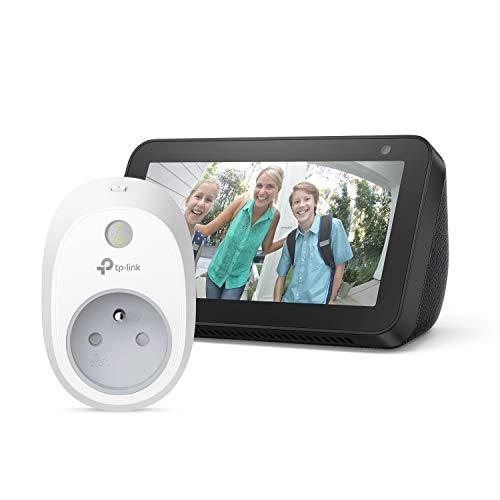 Echo Show 5, Noir + TP-Link HS100 Prise connectée Wi-Fi, Fonctionne avec Alexa