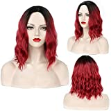 Short Red Wig Red Wigs For Women Ombre Curly Wig High Temperature Fiber Synthetic Wigs For Women