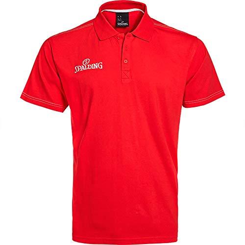 Spalding Polo Shirt Polo para Hombre, Hombre, Rojo, XL