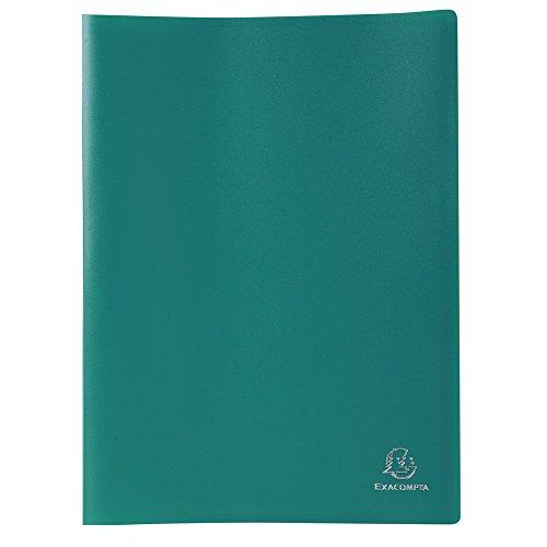 Exacompta 8583E - Carpeta de 80 fundas PVC, A4, color verde