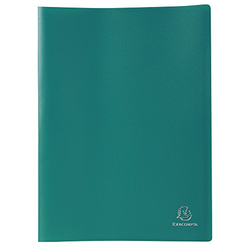 Exacompta 8583E - Carpeta de 80 fundas PVC, A4, color verde