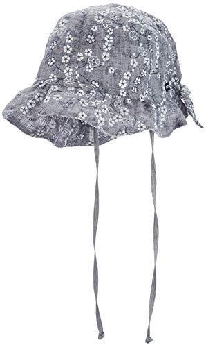 maximo Mädchen Hut Mütze, Grau (Grau-Weiß-Blumen 31), (Herstellergröße: 51)