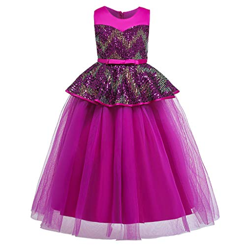 LuckyGirls Dress Elegant Little Girl Princess Birthday Dress Carnival Girls Girls Wedding Dresses Casual Party Sleeveless Dresses