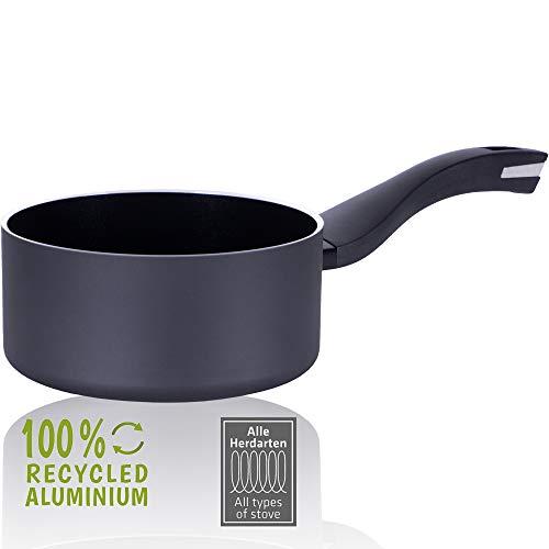 Berndes Casserole 16 cm - En aluminium recyclé - Pour induction - Fabriquée à 100 % à partir de canettes de boisson recyclées - Noir