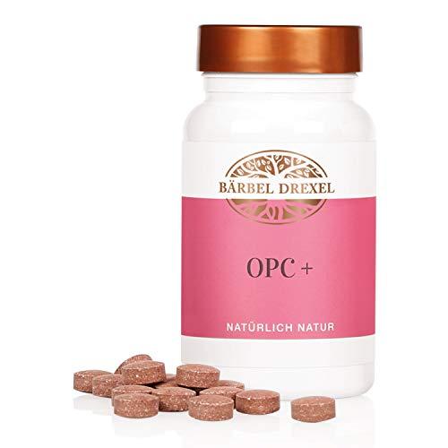 BÄRBEL DREXEL® OPC Traubenkernextrakt Presslinge + Vitamin C, Vegan, Laborgeprüftes Premium OPC (140 Stk) 100% Vegane Herstellung Deutschland Antioxidantien