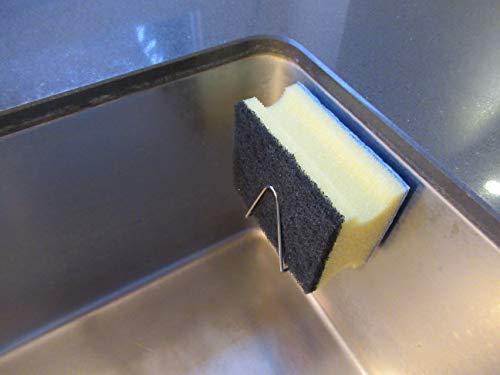 Magnes - der magnetische Schwammhalter aus rostfreiem Edelstahl - Ordnungshelfer für Spülbecken