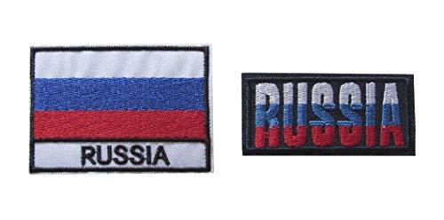 2 Stück Russland Flagge Russland Patch Aufbügler