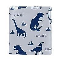 ブックカバー a5 恐竜 ブルー かっこいい 文庫 PUレザー ファイル オフィス用品 読書 文庫判 資料 日記 収納入れ 高級感 耐久性 雑貨 プレゼント 機能性 耐久性 軽量16x22cm