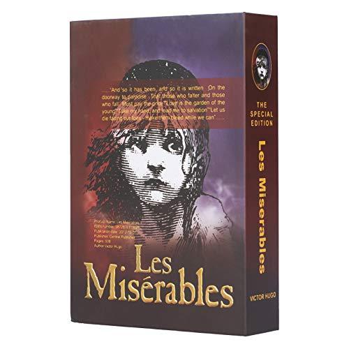 Diversion Book Safe, Classic Novel Diversion Metal Safe Box, Portable Lock Box med Realistiskt Papper och Nyckellås för Kontantkort